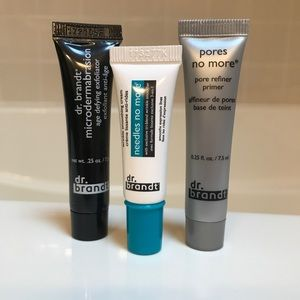 Dr. Brandt travel size skincare set